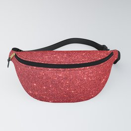 Shiny Sparkly Christmas Cherry Red Glitter Fanny Pack