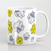 android Mugs featuring Android droids by DeLaEmme