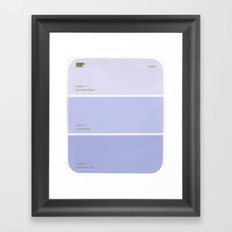 pantone Framed Art Print