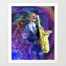 The Sax Player Art Print