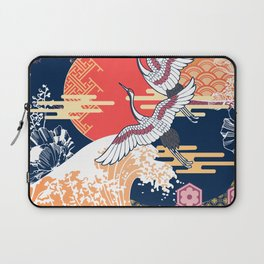 Moon and Crane Laptop Sleeve