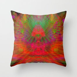 Love Radiation Meditation Throw Pillow