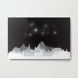 Fireworks at night. Metal Print