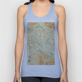 Vintage Map of Lake Winnipesaukee (1907) Unisex Tank Top