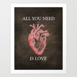 Anatomy Art - All You Need Is Love Art Print