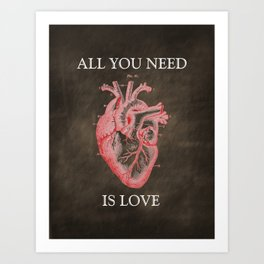 Anatomy Art - All You Need Is Love Art Print