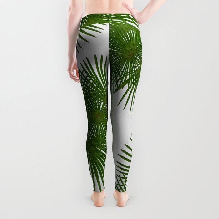 Fan Palm, Tropical Decor Leggings