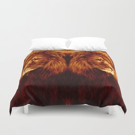 Golden Lion Duvet Cover