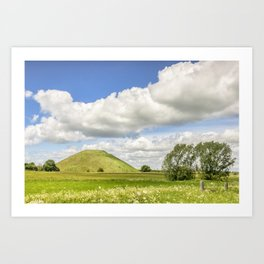 Silbury Hill, Wiltshire Art Print