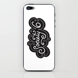 Society 6 lettering (S6 Tee) iPhone Skin