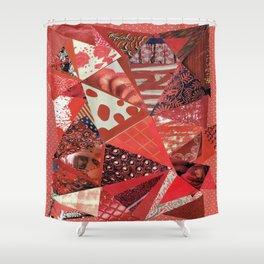Collage - Red Hott Shower Curtain