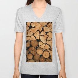 Wood Unisex V-Neck