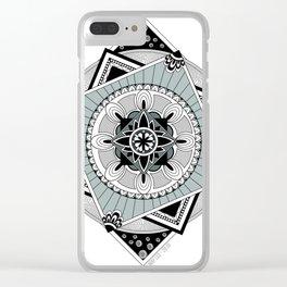 Hypnotic Mandala Clear iPhone Case