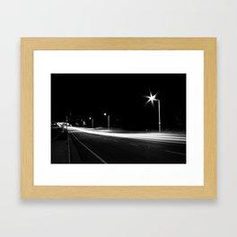 Night Speed Framed Art Print