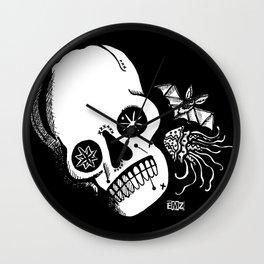 Sugar Skull, Bat & Jellyfish Wall Clock