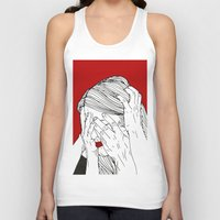introvert Tank Tops featuring Introvert 3 by Heidi Banford