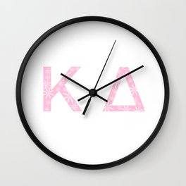 Pink KD Lettering Wall Clock