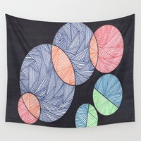 dot Wall Tapestries featuring Dot Dot Dot by Sarah J Bierman