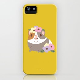 Guinea pig and flowers iPhone Case