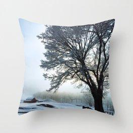 Silver Winter Throw Pillow