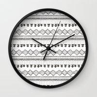 mexico Wall Clocks featuring Mexico by Marta Li