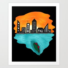 THE UNKNOWN IS HERE. Art Print
