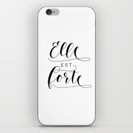 ELLE EST FORTE, Proverbs 31:25, She Is Strong,Scripture art,Bible Verse,Bible Scripture iPhone Skin