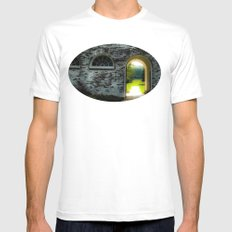 Windows and arches MEDIUM White Mens Fitted Tee