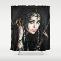 gypsy Shower Curtains featuring Gypsy by Justin Gedak