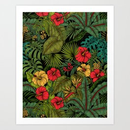 Tropical garden Art Print
