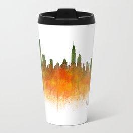 New York City Skyline Hq V02 Travel Mug