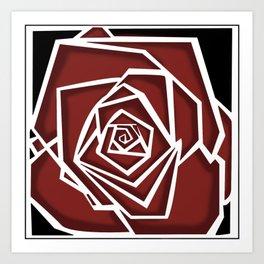 Vertigo Rose Art Print