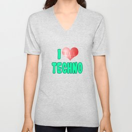 Love techno? Here's a nice tee for you! Makes a cute and adorable gift this holiday too!  Unisex V-Neck