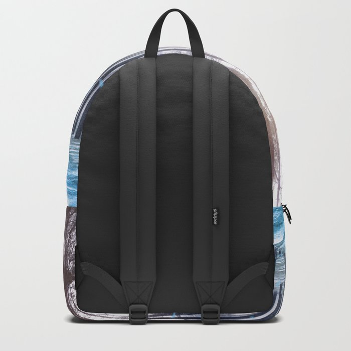 Feather Dance In Winter Backpack