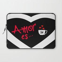 Amor es... = Love is... Laptop Sleeve