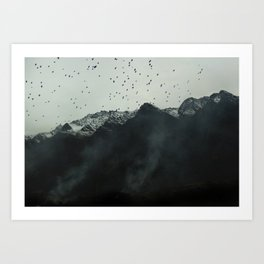 Mountain Series - Remarkables Art Print