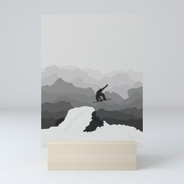 Snowboarder Mini Art Print
