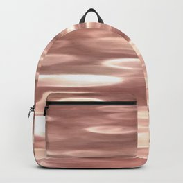 Rose gold copper shimmer Backpack