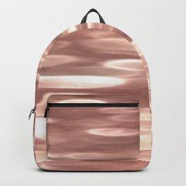 Rose gold copper shimmer Backpack