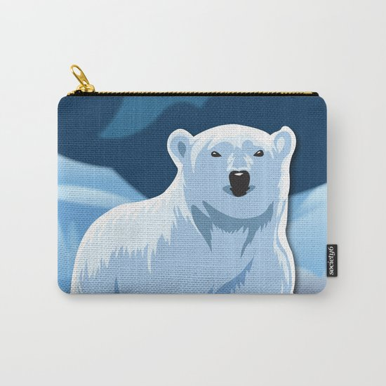 Lonely Polar Bear Carry-All Pouch