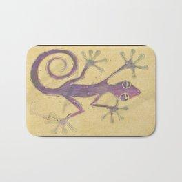 Purple Gecko of Love Bath Mat