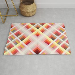 Multicolored Retro Grid Roc Rug