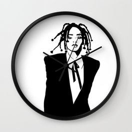 Rihanna Black and White Wall Clock