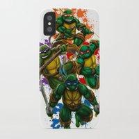 teenage mutant ninja turtles iPhone & iPod Cases featuring Teenage Mutant Ninja Turtles by Magik Tees