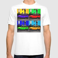 Eastern Germany Car - Trabant 601s Mens Fitted Tee White MEDIUM