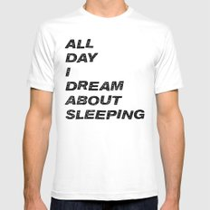 All Day I Dream White Mens Fitted Tee MEDIUM