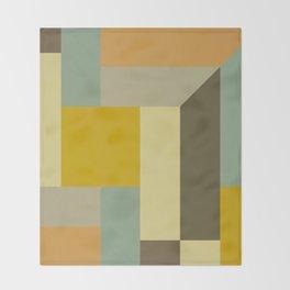 Retro Geometry IV Throw Blanket