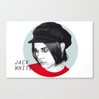jack white Canvas Prints featuring JACK WHITE by Nuk_