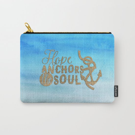 Hope anchors the soul - Typography maritime Carry-All Pouch