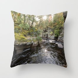 Sturgeon River Canyon in Michigan's Upper Peninsula Throw Pillow